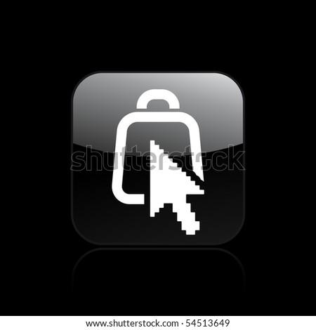 Vector illustration of modern bag icon - stock vector