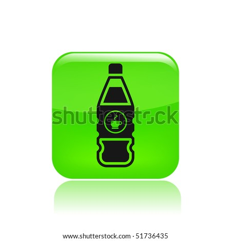 Vector illustration of modern black icon depicting a bottle of coffee - stock vector