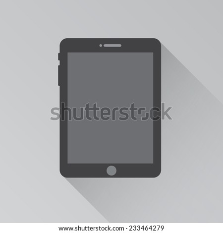 vector illustration of modern black tablet