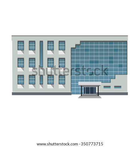 Vector illustration of modern building for web design and infographics