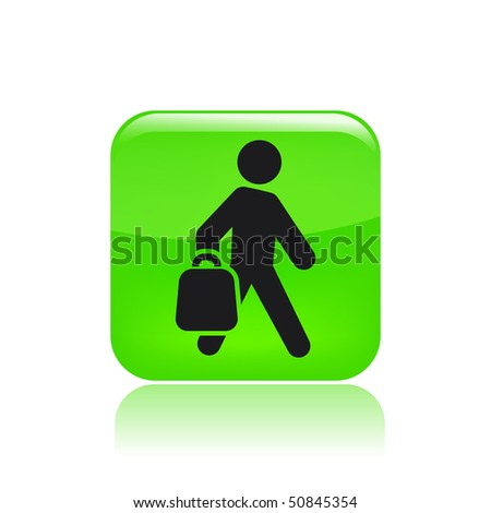 Vector illustration of modern green icon depicting a shopping icon - stock vector