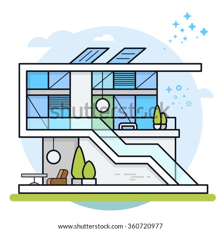 Vector Illustration Modern House House Icon Stock Vector 360720977