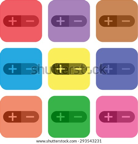 vector illustration of modern icon control button