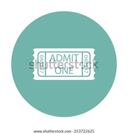 vector illustration of modern icon movie ticket - stock vector