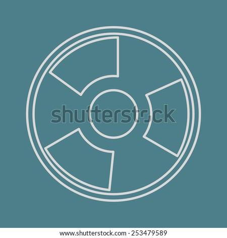 vector illustration of modern  icon radiation - stock vector