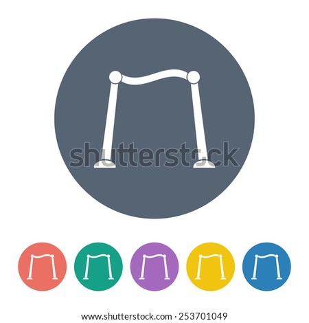 vector illustration of modern  icon red carpet