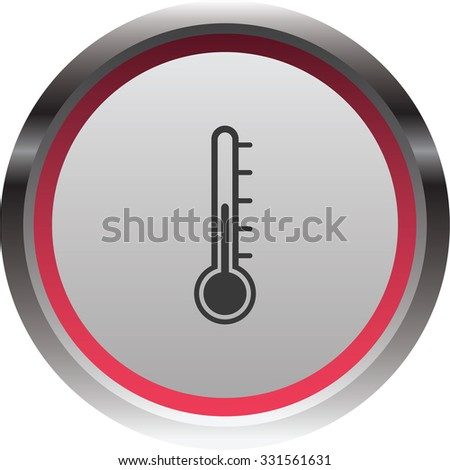 vector illustration of modern icon thermometer