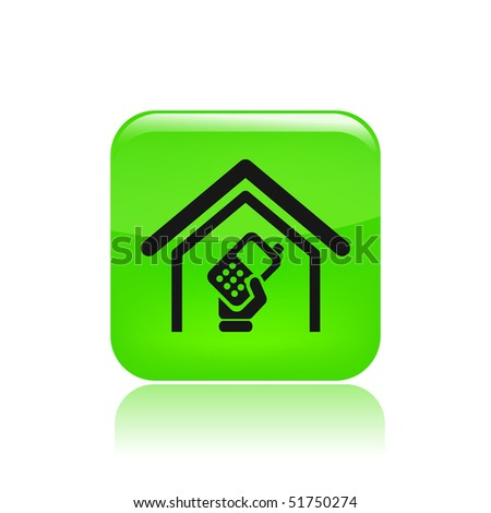 Vector illustration of modern single icon depicting a cordless phone home