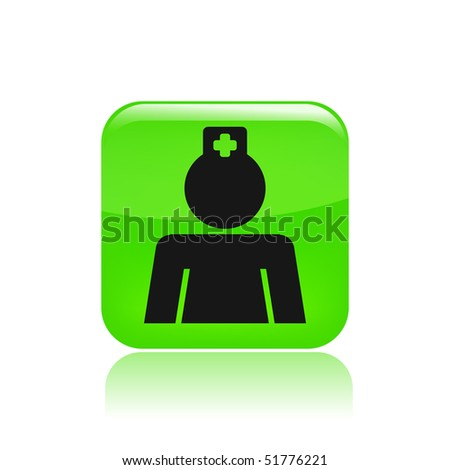 Vector illustration of modern single icon depicting a nurse