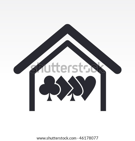 Vector illustration of modern single icon depicting a poker home - stock vector