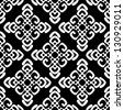 Vector illustration of monochrome seamless damask pattern - stock