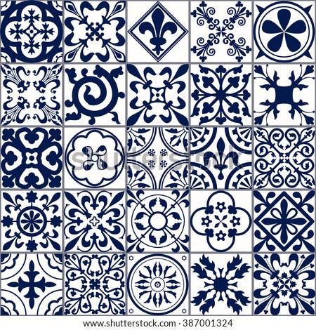 Vector Illustration Moroccan Tiles Seamless Pattern Stock Vector