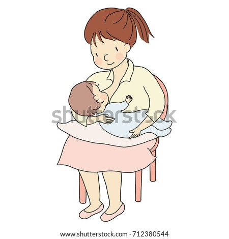 vector illustration mother holding baby arms stock vector 712380544 shutterstock