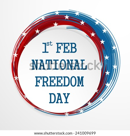Vector illustration of National Freedom Day background with stars.