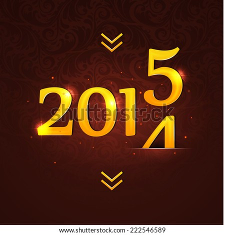 Vector illustration of New year 2015 - stock vector