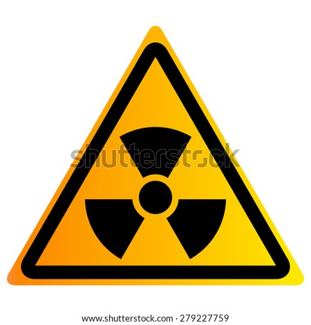 Vector illustration of nuclear waste - stock vector