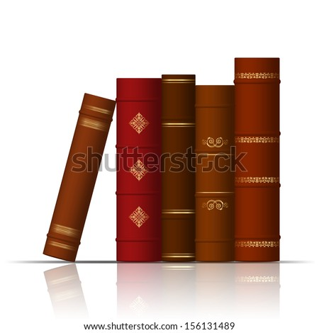 Vector illustration of old books - stock vector