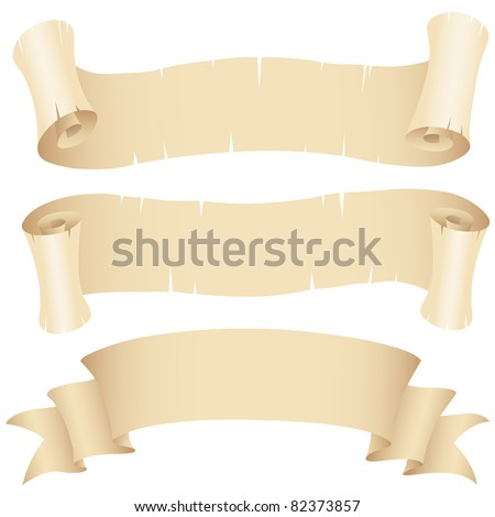 Vector Illustration of Old Paper Banners Set