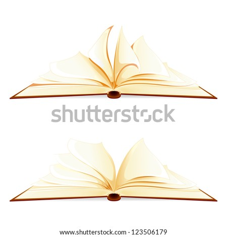 vector illustration of open book against white background - stock vector