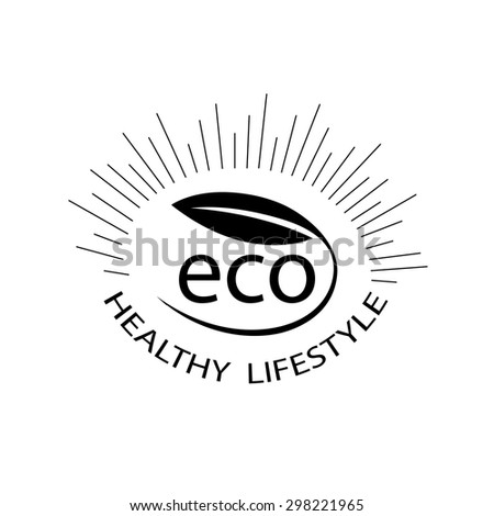 Vector illustration of organic symbol. Leaf and ECO. Ecology, organic icon . Eco icon. Logo template. - stock vector