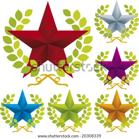Vector illustration of ornate star icon. Only global colors. CMYK. Easy color changes.