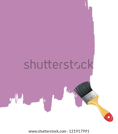 Vector illustration of Paint brush with splash