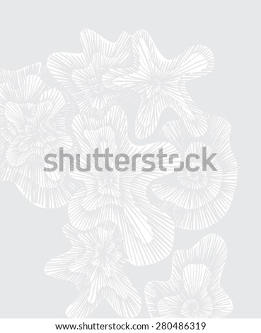 Vector illustration of pale grey background. Grunge, distorted, white paper. - stock vector
