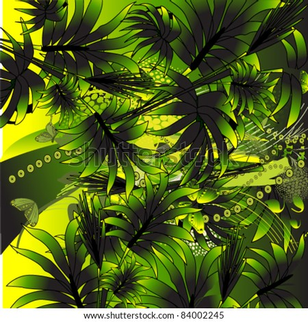 vector illustration of  palm - stock vector