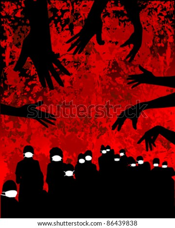 vector illustration of pandemic - stock vector