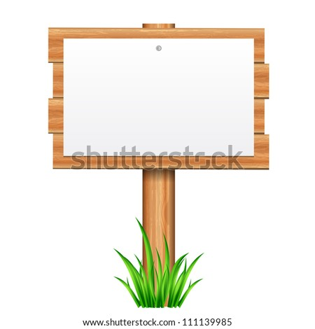 Vector illustration of paper on wooden - stock vector