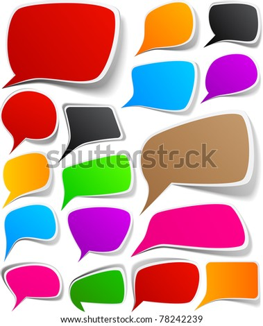 Vector illustration of paper speech backgrounds. - stock vector