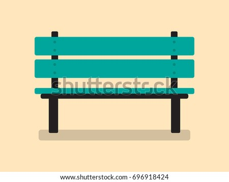 Vector Illustration Park Chair Flat Design Stock Vector 696918424 ...