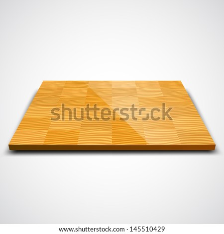 Vector illustration of parquet wood floor. - stock vector