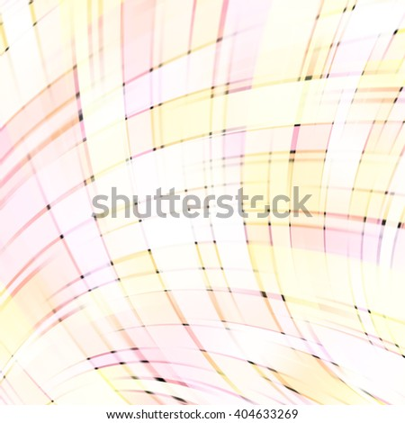 Vector illustration of pastel abstract background with blurred light curved lines. Vector geometric illustration. Pink, yellow, white colors.