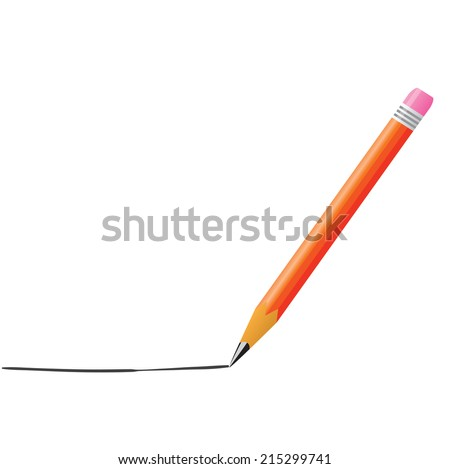 Pencils Line Drawing of Pencil Drawing a Line