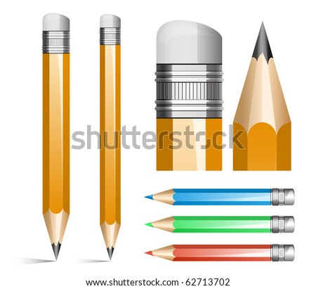 Vector illustration of pencils - stock vector