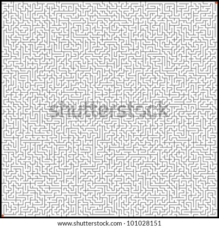 Vector illustration of perfect maze. EPS 8 vector file included - stock vector