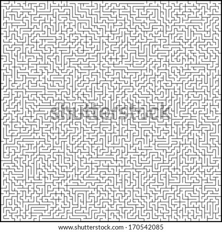 Vector illustration of perfect maze. EPS 10 vector file included
