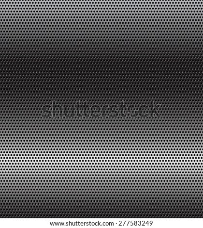 Vector illustration of perforated technology background with horizontal gradient - stock vector