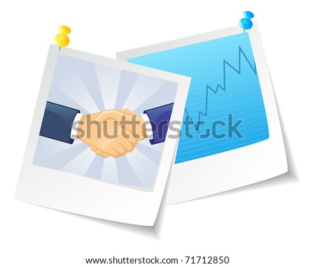 Vector illustration of Photo business - stock vector