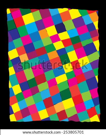 Vector illustration of plaid checkered colorful abstract pattern. - stock vector
