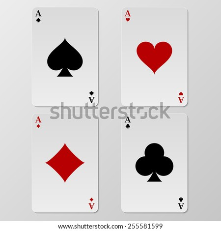 Vector illustration of playing cards aces.