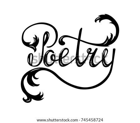 Vector Illustration Poetry Barclub Cardbanner Template Stock ...