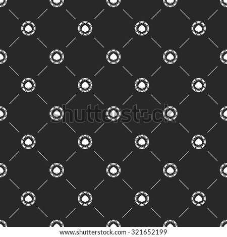 Vector illustration  of poker and gambling icon - stock vector