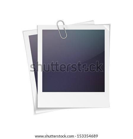 Vector illustration of polaroid photo frame isolated on white background - stock vector