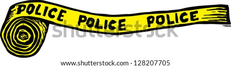 Vector illustration of police crime scene tape