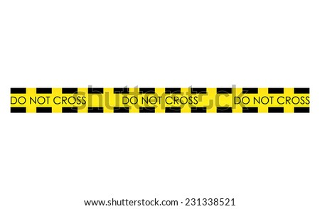 Vector illustration of police line - stock vector