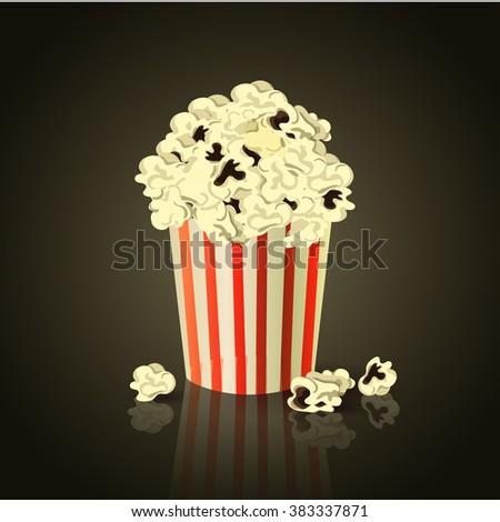 vector illustration of Popcorn box - stock vector