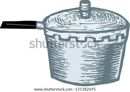 Vector Illustration Of Pressure Cooker Stock Vector