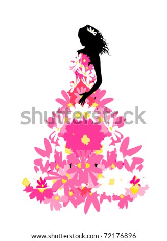 vector illustration of princess - stock vector